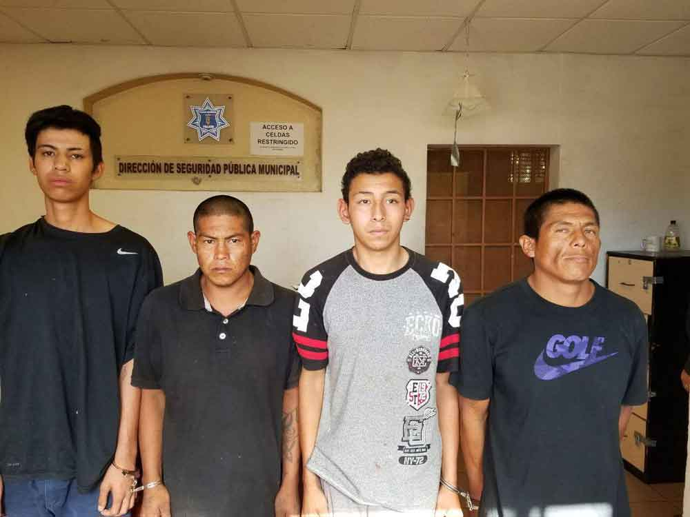 Cuatro detenidos en el Mirador; si los conoces ¡denúncialos!
