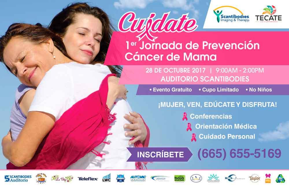 """Próximo sábado se llevará a cabo la Primer Jornada de Prevención Cáncer de Mama """"Cuídate"""""""