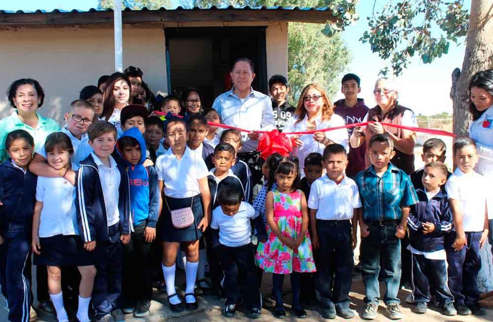 Inaugura Presidente de DIF Tecate Desayunador Escolar en zona rural