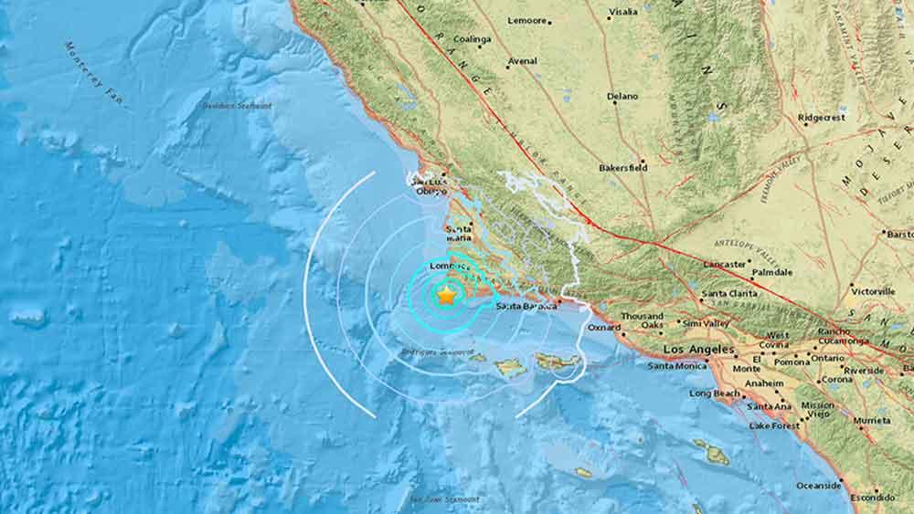 Se registra fuerte sismo en California
