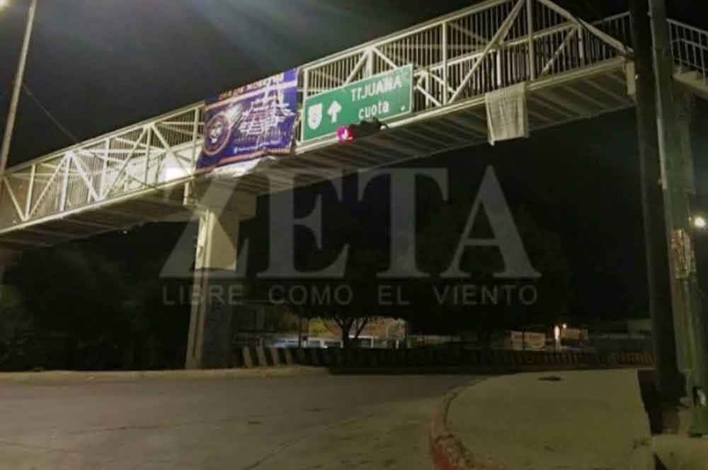 Aparece narcomanta dirigida a Policías Municipales de Tecate