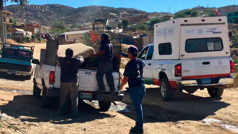 Realizan recolección de basura voluminosa en La Sierrita