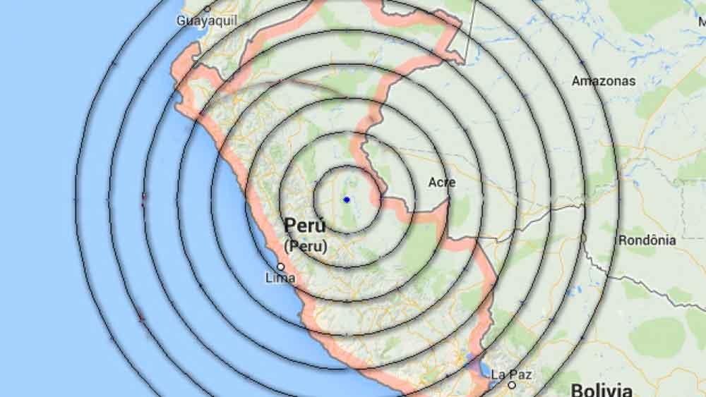 Se registra un sismo de magnitud 5.7 en Perú