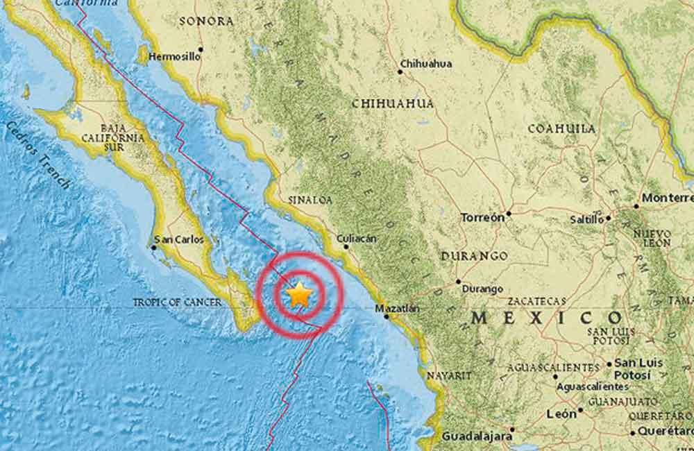 Se registra fuerte sismo en Baja California Sur
