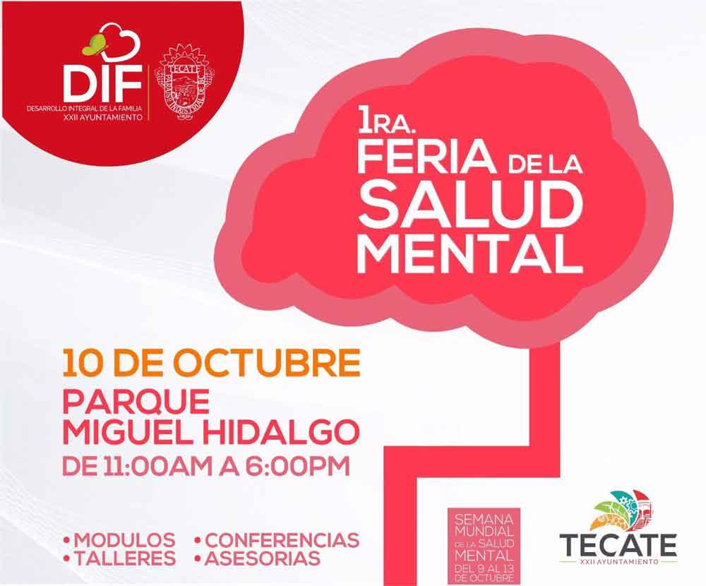 Realizará DIF Tecate 1ra. Feria de la Salud Mental en Tecate