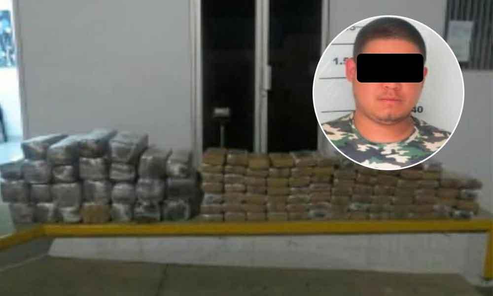 Decomisan 221 kilos de marihuana en Ensenada; un detenido