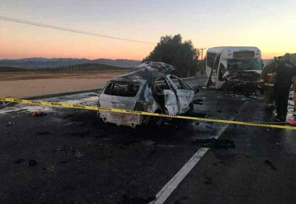 Un muerto tras fatal choque en carretera Ensenada-Tecate