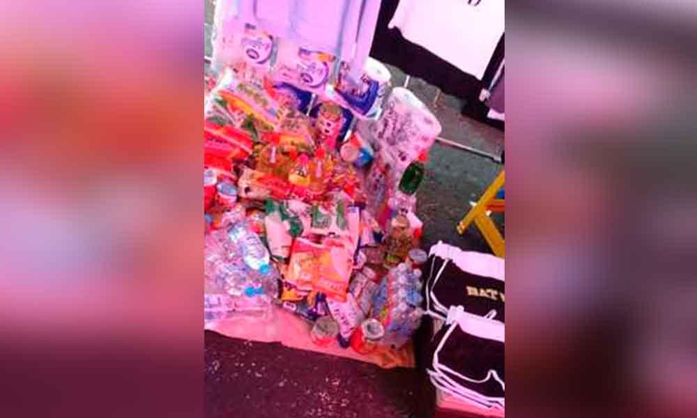 Víveres para damnificados por sismo se venden en tianguis