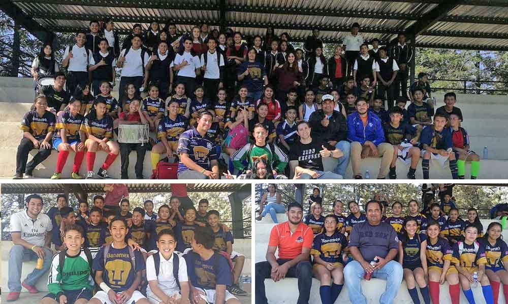 """""""Libertadores"""" y """"Pumas"""" de la Telesecundaria No.3 en Tecate ganan pase a torneo estatal de fútbol"""