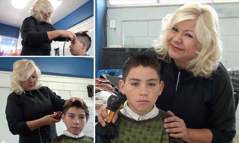 Emprende el C.E.A.D y Lic. Marina Calderon gran jornada de corte de cabello gratuito