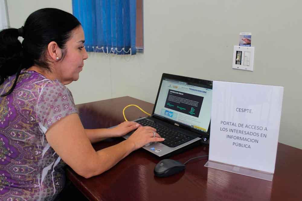 Instalan Módulo de transparencia y acceso a la información en oficina de CESPTE