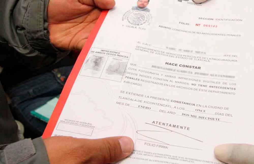Cartas de Antecedentes penales gratis en Baja California