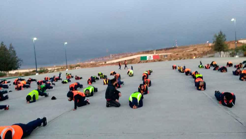 Cadetes de la Academia de Policía reciben activación física por parte   de Imdete