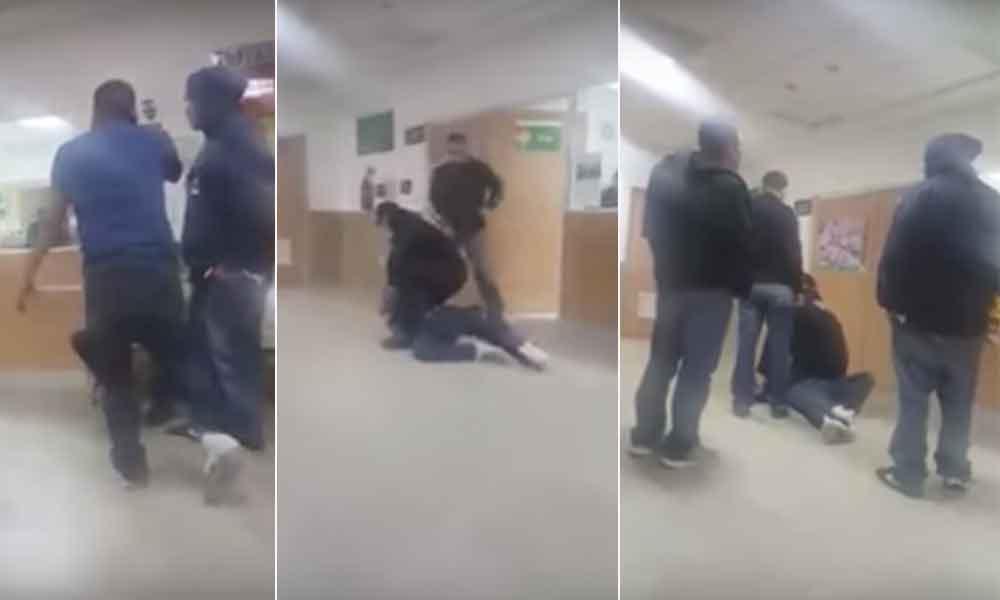 IMSS emite comunicado tras video de hombre quebrando un cristal