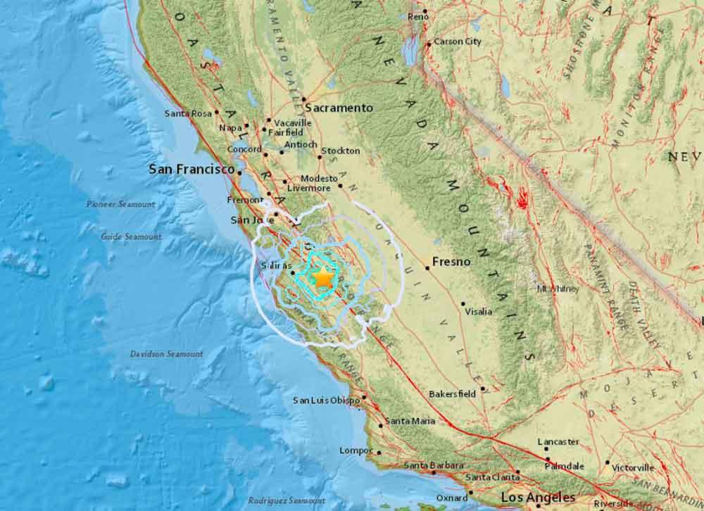 Se registra sismo de magnitud 4.7 en California