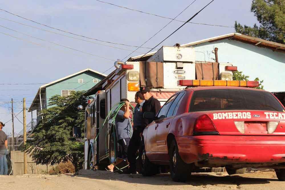 Dos niñas fallecieron tras fuerte incendio en Tecate