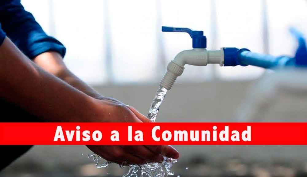 ¡Aviso! Martes 21 de noviembre habrá suspensión de agua en colonias de Tecate