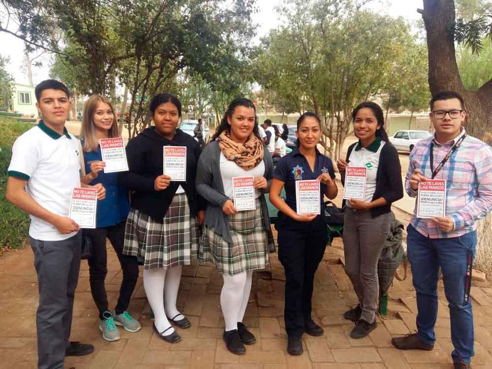 Promueven campaña ¡No te laves las Manos! en planteles educativos de Tecate