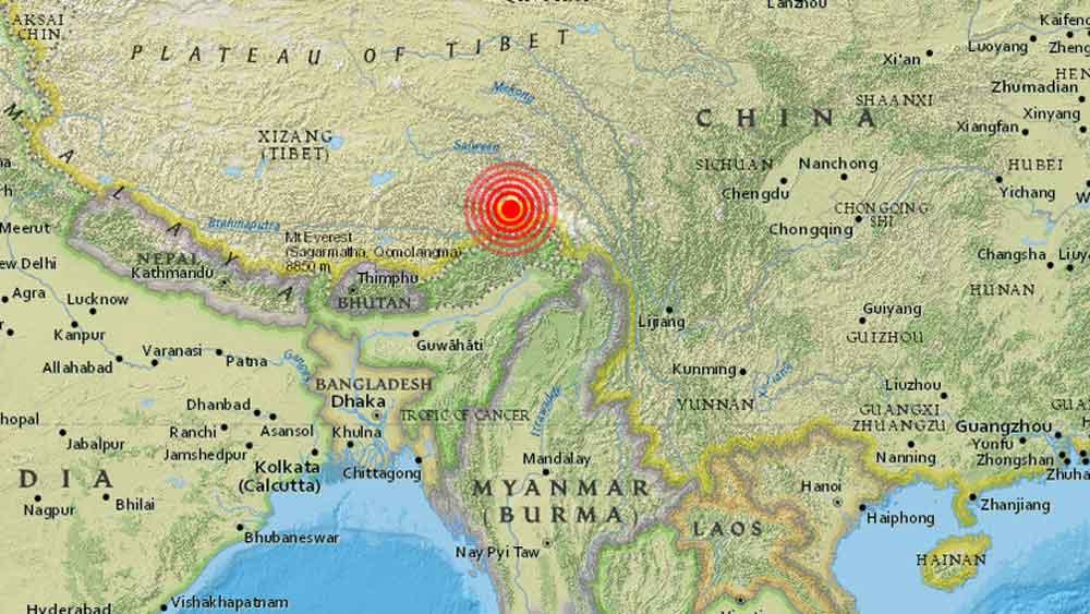 Fuerte sismo de magnitud 6,3 sacude el sur de China