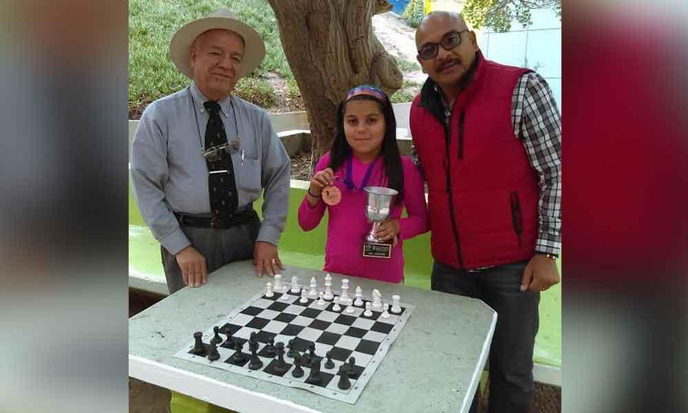 Niña tecatense obtuvo tercer lugar en el IV Torneo Nacional de Ajedrez