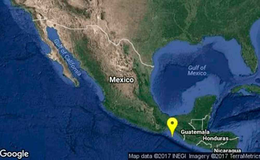 Se registra sismo de 5.2 grados en Chiapas