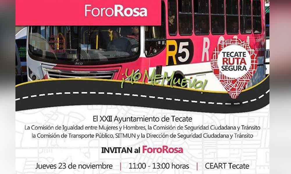 Ayuntamiento convoca al Primer Foro Rosa