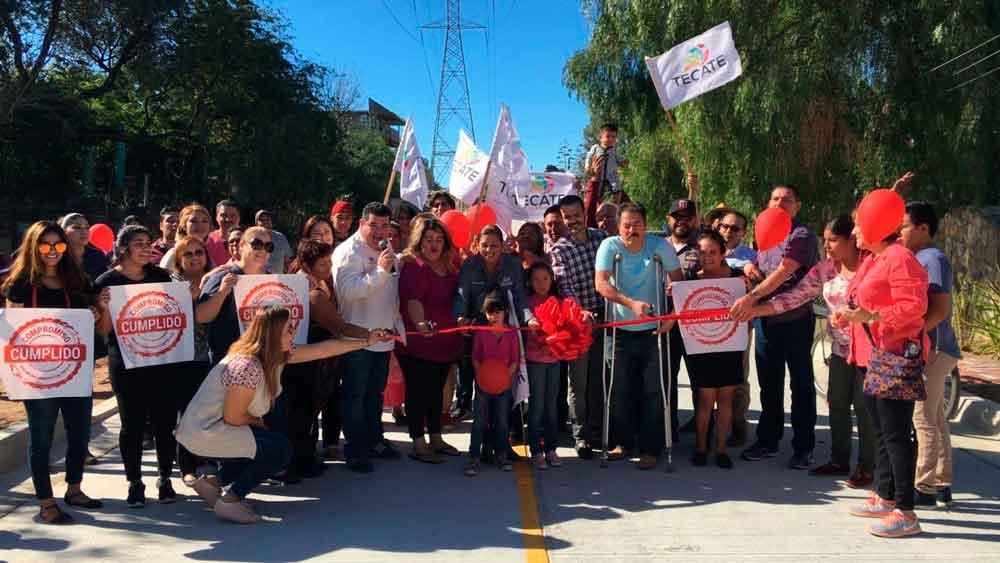 Inauguran la calle Tamaulipas en colonia Loma Alta de Tecate