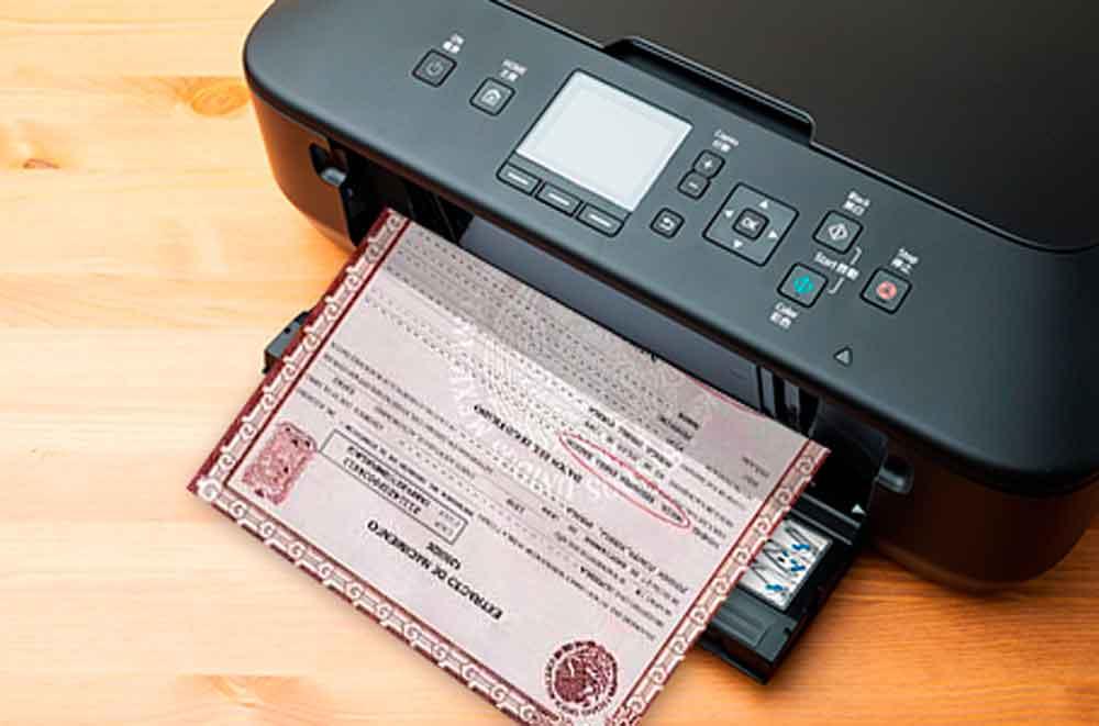 Así puedes imprimir tu acta de nacimiento desde tu casa