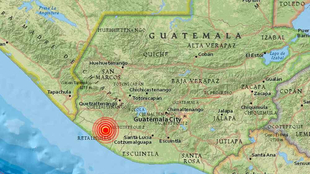 Se registra terremoto de magnitud 5.1 en Guatemala