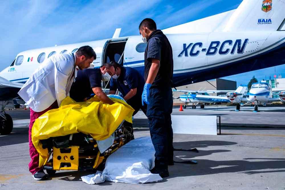 Trasladan en ambulancia aérea a joven con quemaduras de segundo grado a Hospital General de Chihuahua