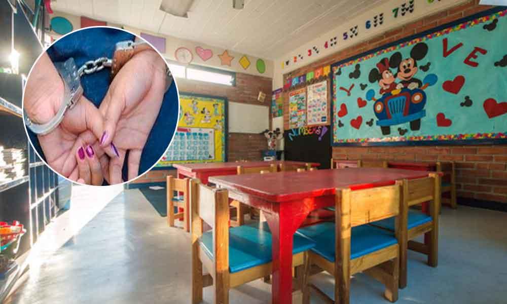Capturan a maestra de kínder, acusada de abusar sexualmente de 3 niños