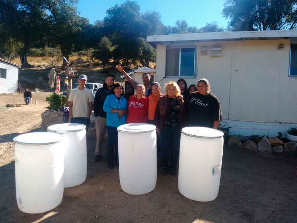 Visita Regidora Judith Armenta a la comunidad indígena Kumiai