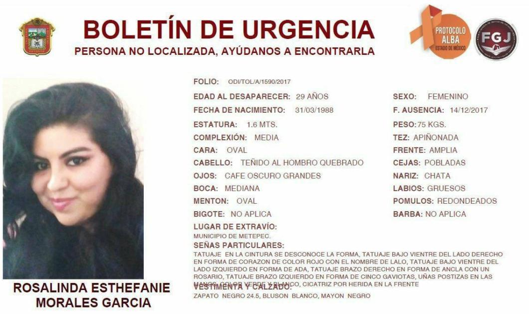 """El chófer no me deja bajar"": último mensaje de Rosalinda"