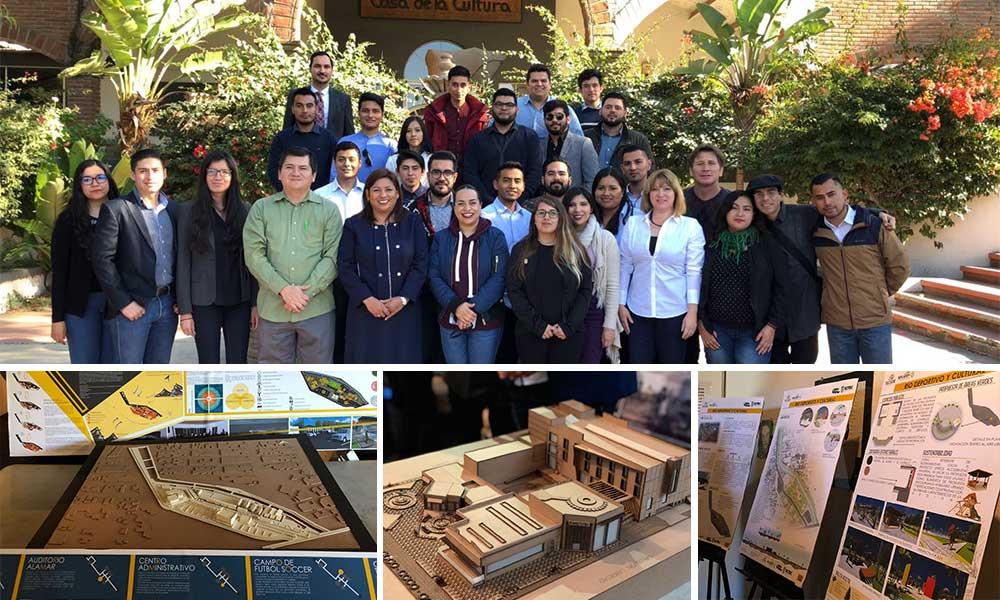 Alumnas y alumnos de UABC presentan proyectos arquitectónicos en Tecate