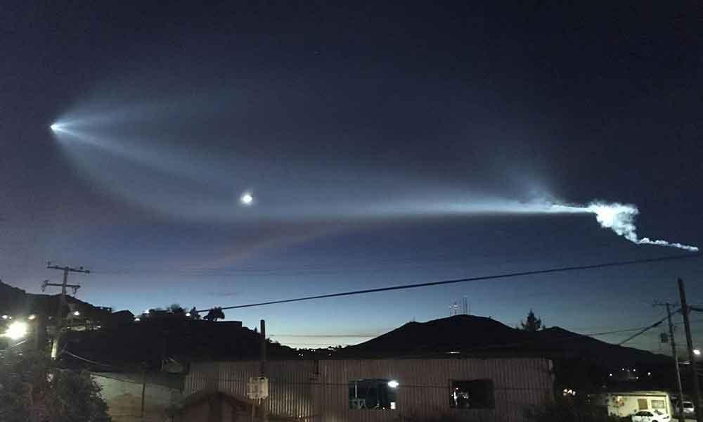 Extrañas luces en el cielo se observaron en Baja California esta noche