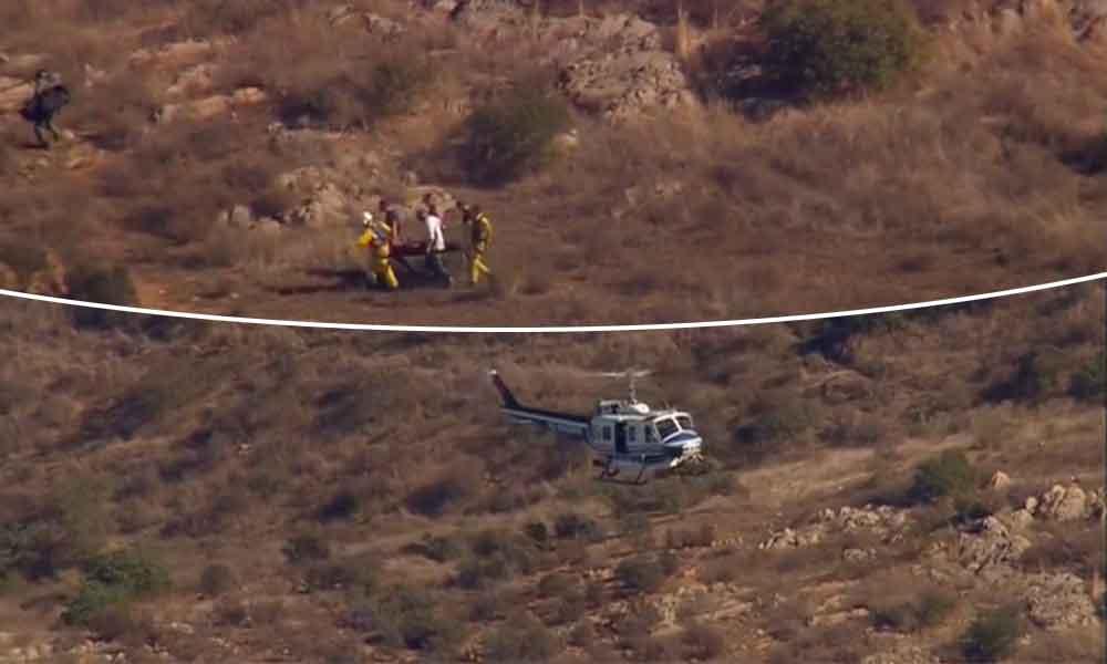 Paracaidista herido fue rescatado en Jamul