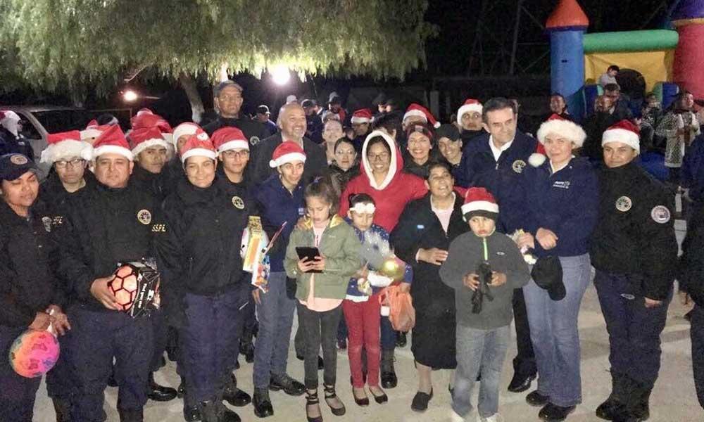 Convive Secretario de Seguridad Sosa Olachea con niños del orfanatorio Rancho Nazareth en Tecate