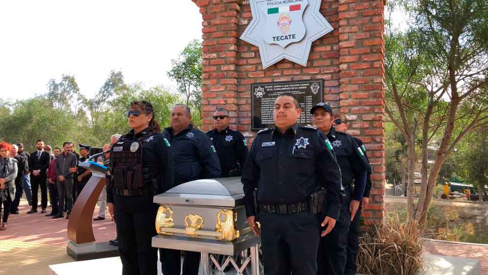 Rinden homenaje al Oficial Odín Garcés Mendivil