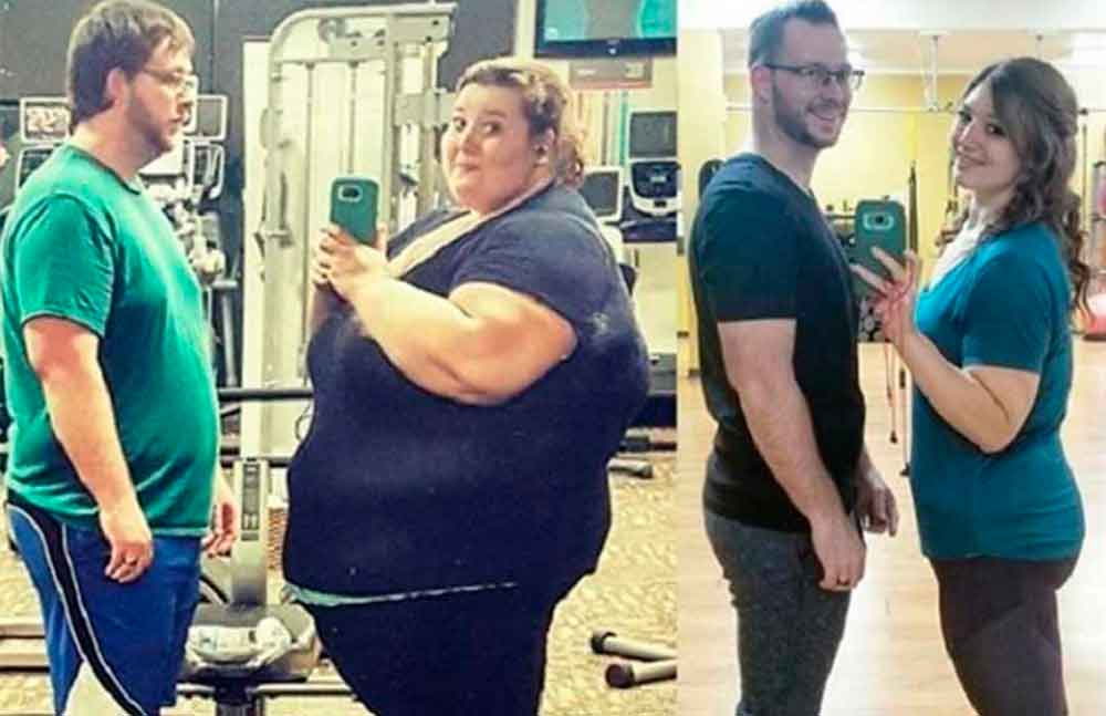 Decidieron bajar de peso y entre los dos han perdido 180 kilos