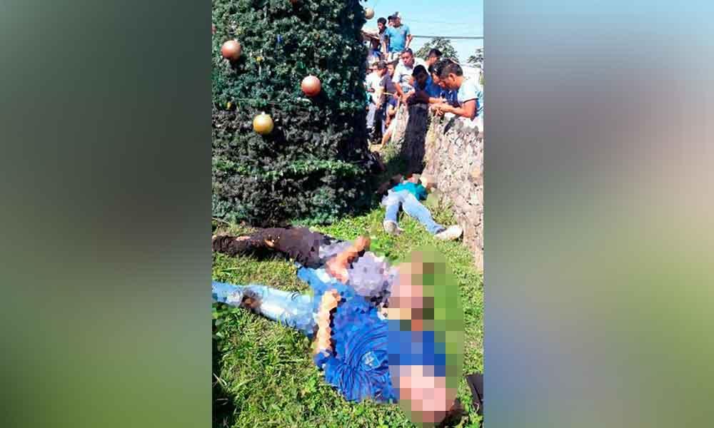 Mueren 5 jóvenes electrocutados al decorar árbol de Navidad
