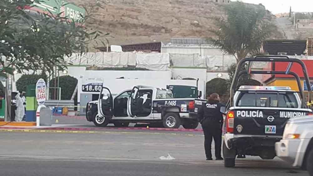 Matan a policía municipal en Tecate; otro resultó herido