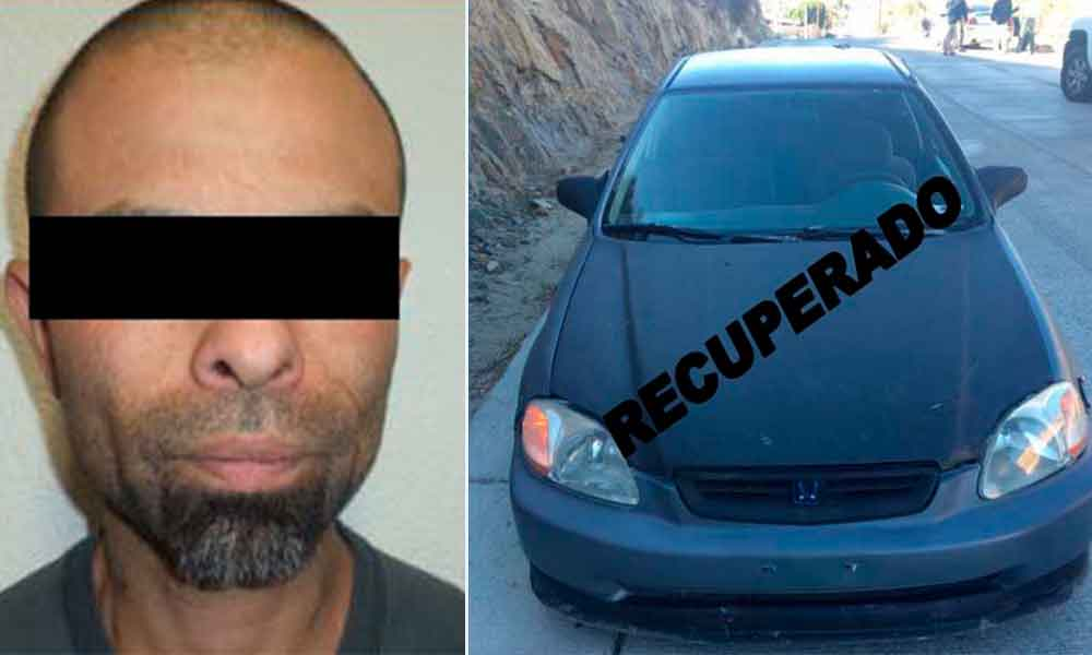 Capturan en Tecate a sujeto por robo de vehículo