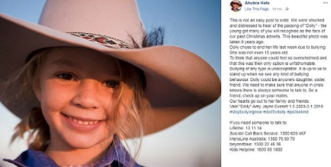 Conmoción en Australia por el suicidio de una adolescente modelo