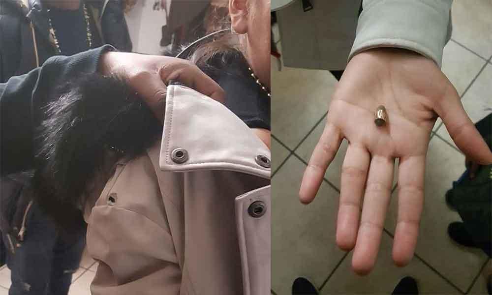Bala perdida perfora abrigo de una joven durante año nuevo