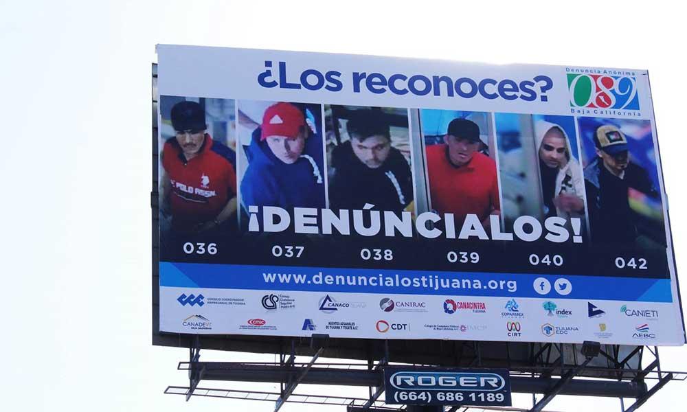 """Exhibirán a delincuentes en vallas, carteleras y espectaculares con la campaña """"Denúncialos Tijuana"""""""