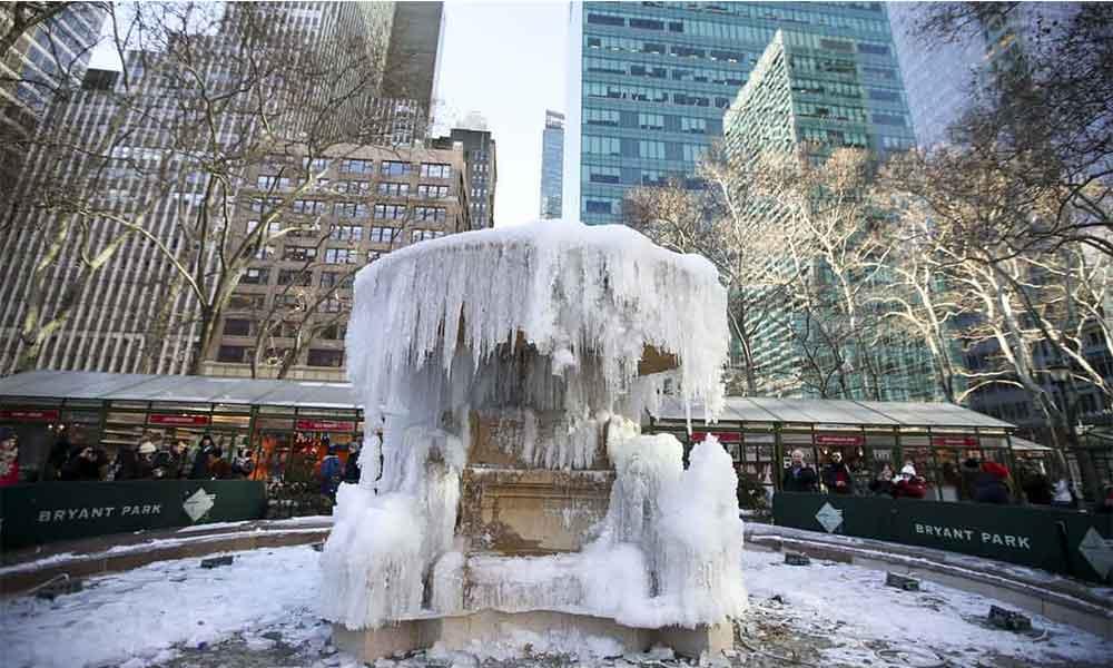 Estados Unidos con las temperaturas más bajas de su historia