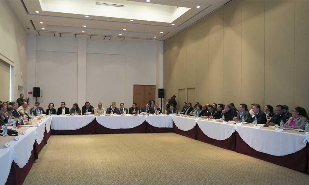 Encabeza Gobernador del Estado Francisco Vega reunión de trabajo y coordinación en materia de seguridad pública en Tecate