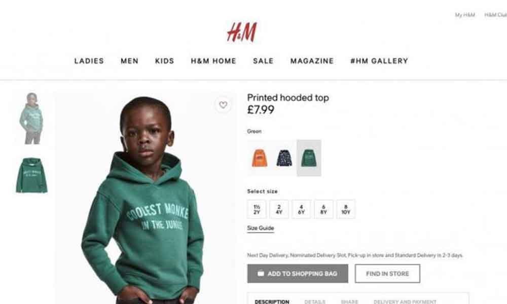 H&M acusado por mensaje racista en sudadera