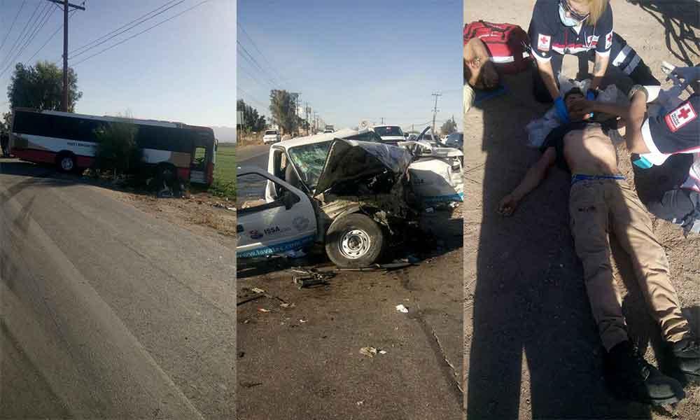 Fuerte accidente sobre la carretera Mexicali-San Felipe deja dos lesionados