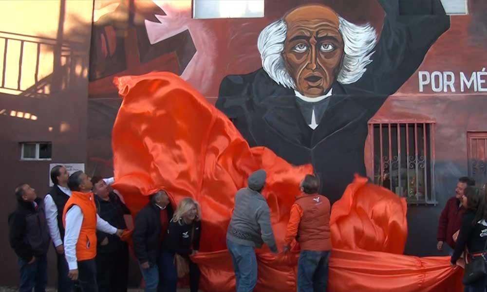 """Reinauguran oficinas de Movimiento Ciudadano y develación de mural """"Por México al Frente"""" en Tecate"""